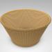 3d 3D Wicker Basket model buy - render