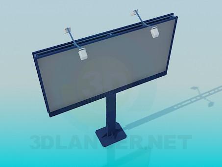 3d modeling Two-sided billboard model free download