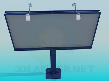 3d model Two-sided billboard - preview