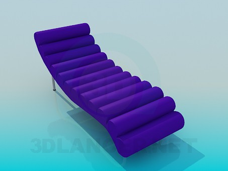 3d model trestle bed - preview