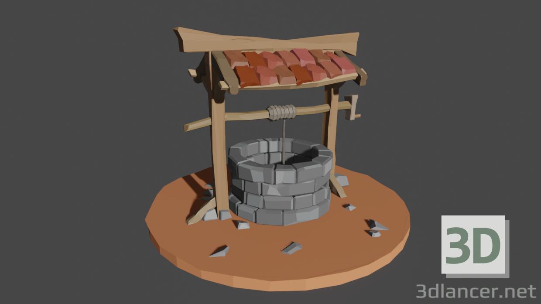 3d model Well scene - preview