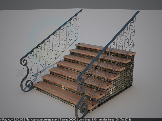 3d model Banisters of forging - preview