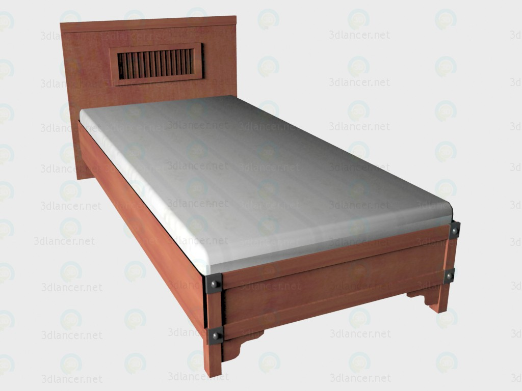 3d model Bed 1-local 102h204 - preview