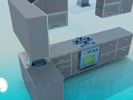 3d model Kitchen - preview
