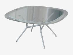 Table à manger carrée avec des coins arrondis Table de branche