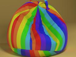Armchair bag rainbow