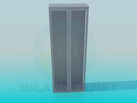 3d модель Стелаж із закритими дверцятами – превью