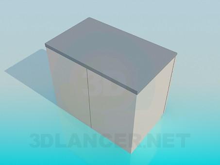 3d модель Комод – превью