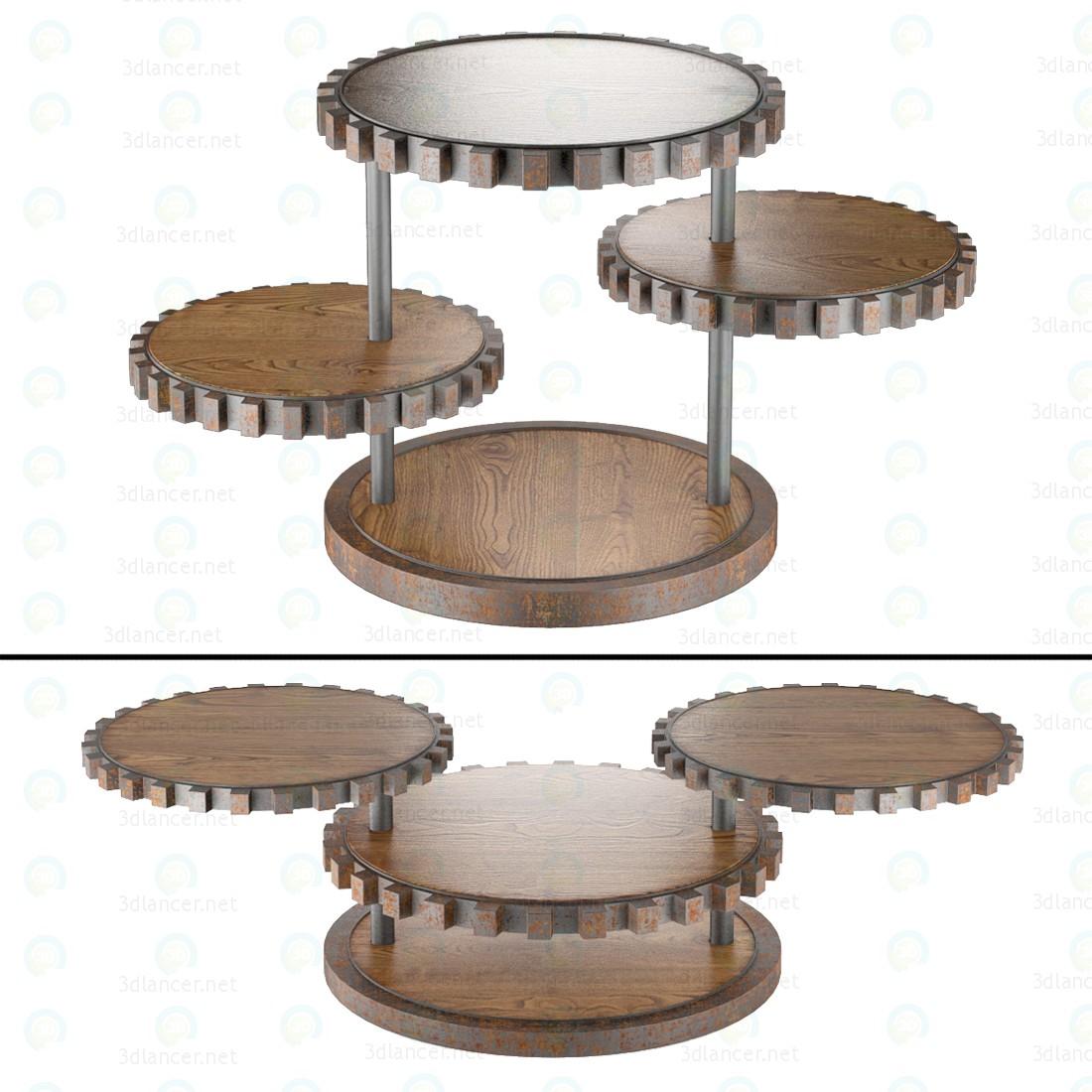 Mesa de extremo de piñones 3D modelo Compro - render