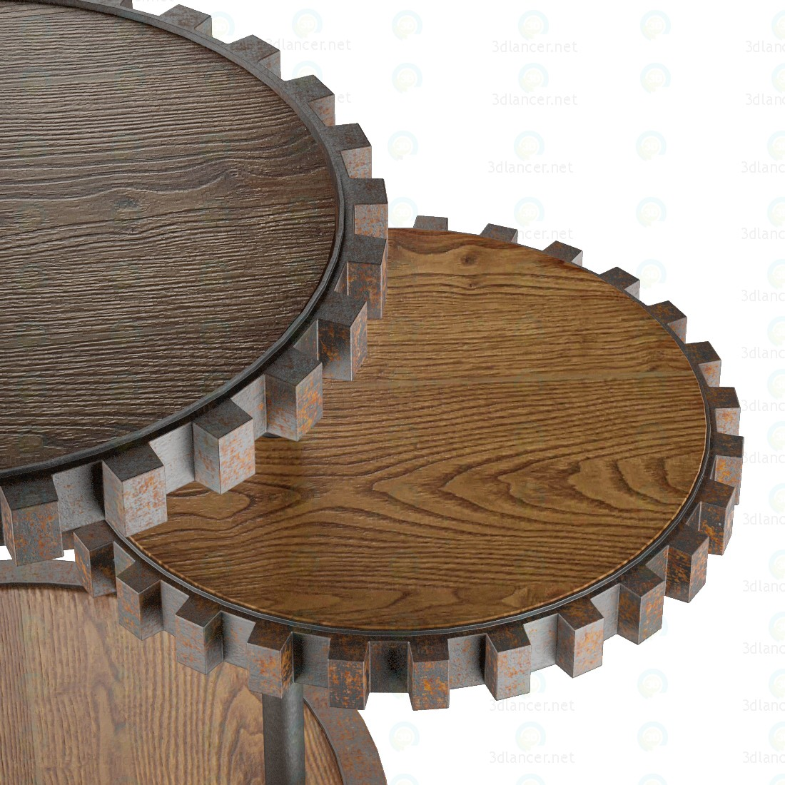 3d Sprockets End Table model buy - render