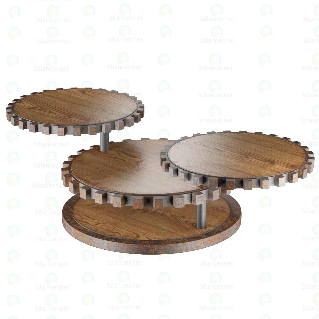 3d Звездочки столик модель купить - ракурс