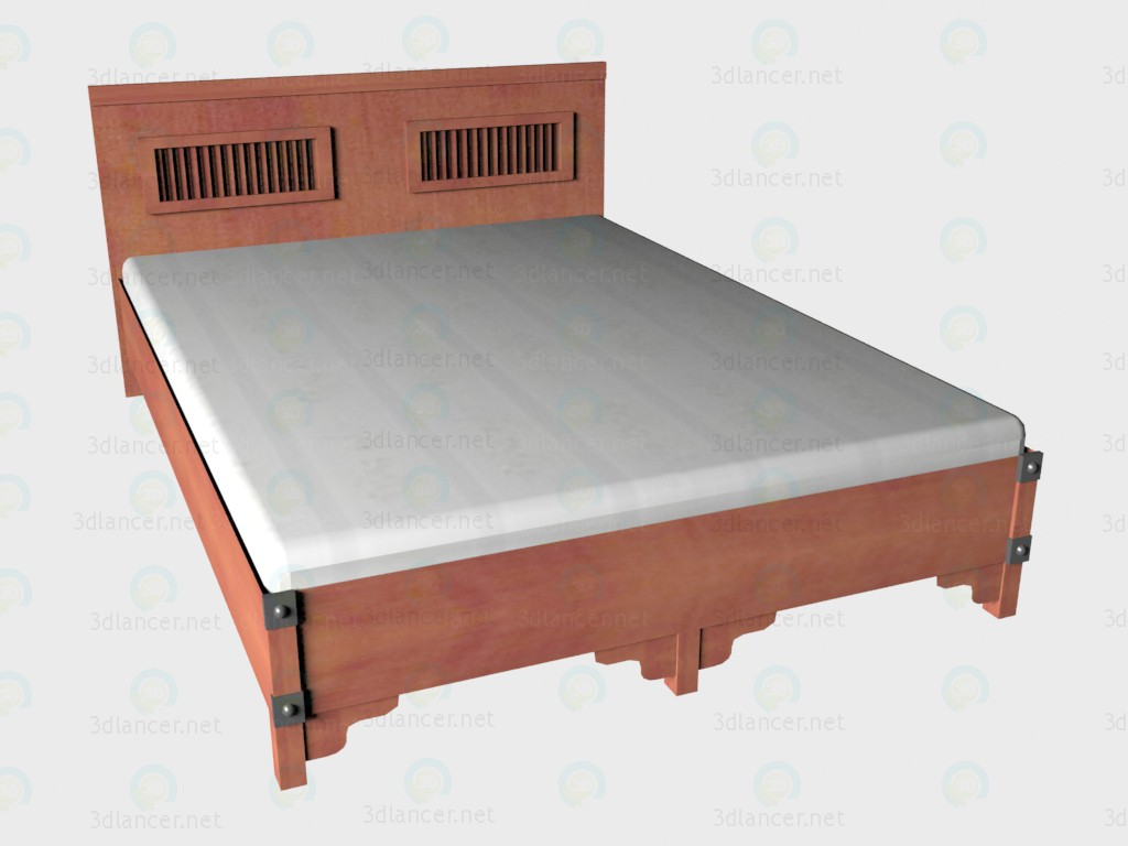 3d model Double bed 140x200 VOX - preview