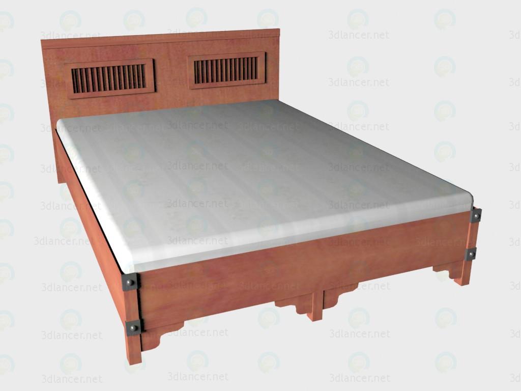 3d модель Кровать 2-местная 140х200 – превью