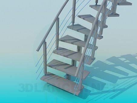 modelo 3D Escaleras - escuchar