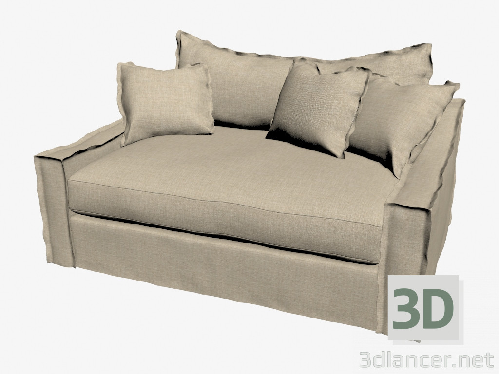 Modelo 3d Sofá cama doble LOVESEAT (luz) del fabricante ... - photo#39