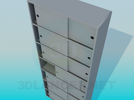 3d модель Офисный шкаф – превью