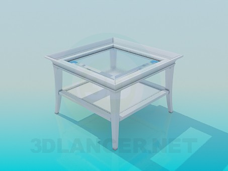 3d modeling Square table with two tops model free download