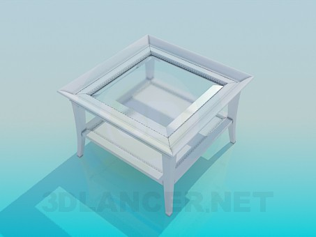 3d model Square table with two tops - preview