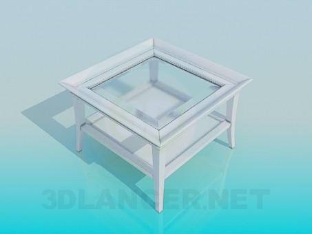 3d модель Квадратный стол с двумя столешницами – превью