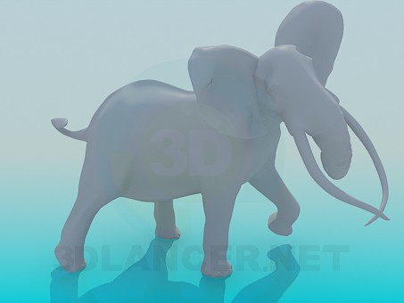 3d modeling Elephant model free download