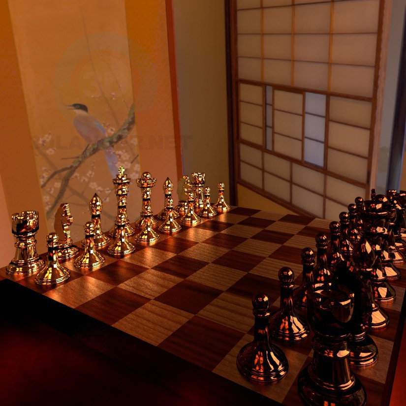 3d modeling Chess model free download