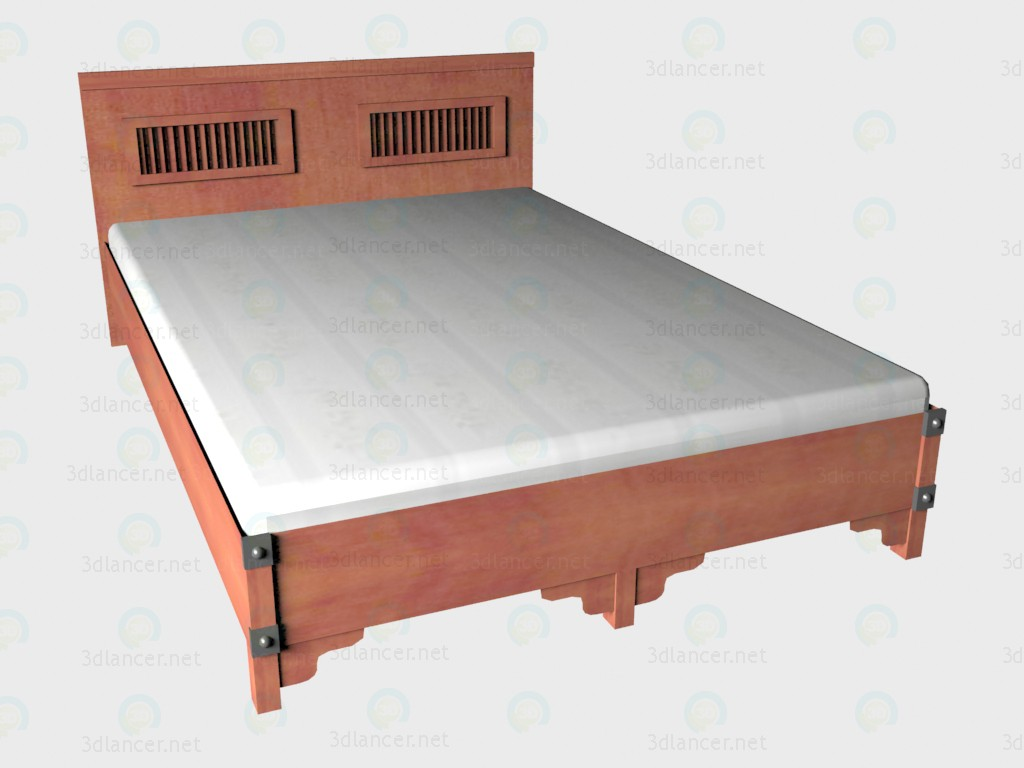 3d model Double bed 140x220 VOX - preview