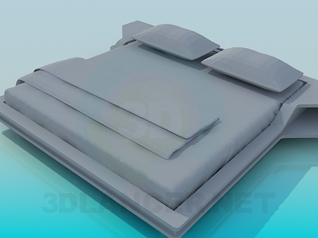 3d model Bed High Poly - preview