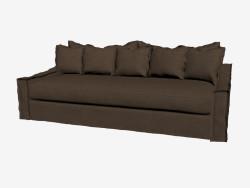 Sofa-bed three-seater (dark)