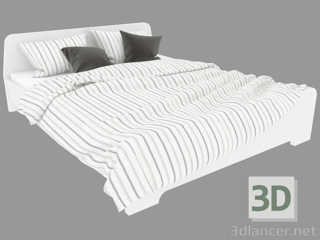 Bedombouw 180x220 Ikea.3d Model Double Bed Ascension 208x167 Ikea Max 2013
