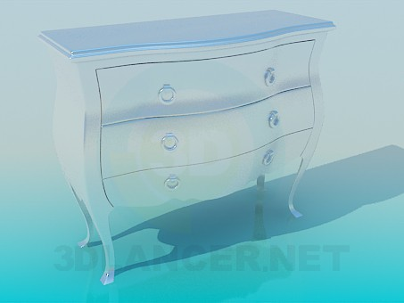 3d modeling Chest of drawers model free download