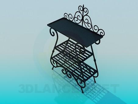 3d модель Кованная подставка – превью