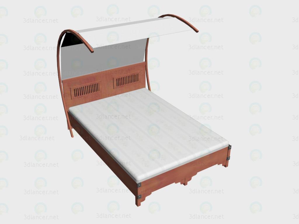 3d модель Кровать 2-местная 140х220 + балдахин VOX – превью