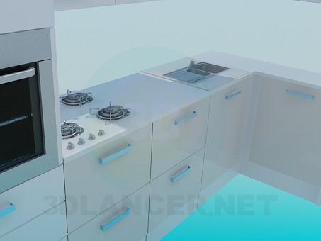 modelo 3D Polietileno alta cocina - escuchar