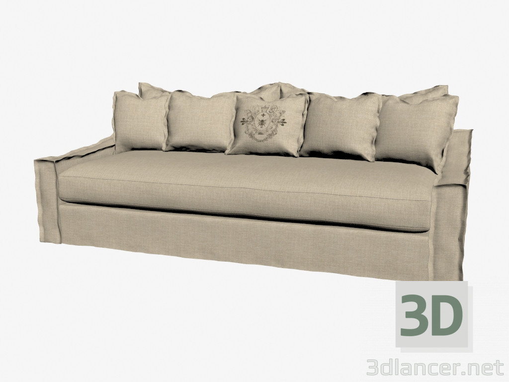 3d model sofa bed three seated light manufacturer for Sofa bed 3d model
