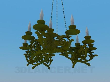 3d modeling Chandelier model free download