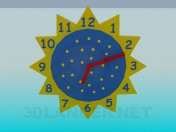 Wall clock in the nursery