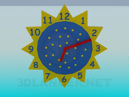 3d modeling Wall clock in the nursery model free download
