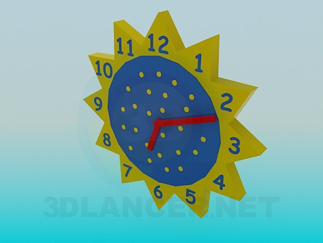 3d model Wall clock in the nursery - preview