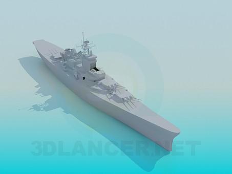 3 डी मॉडल जहाज - पूर्वावलोकन
