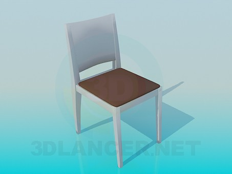 3d modeling Stool with back model free download