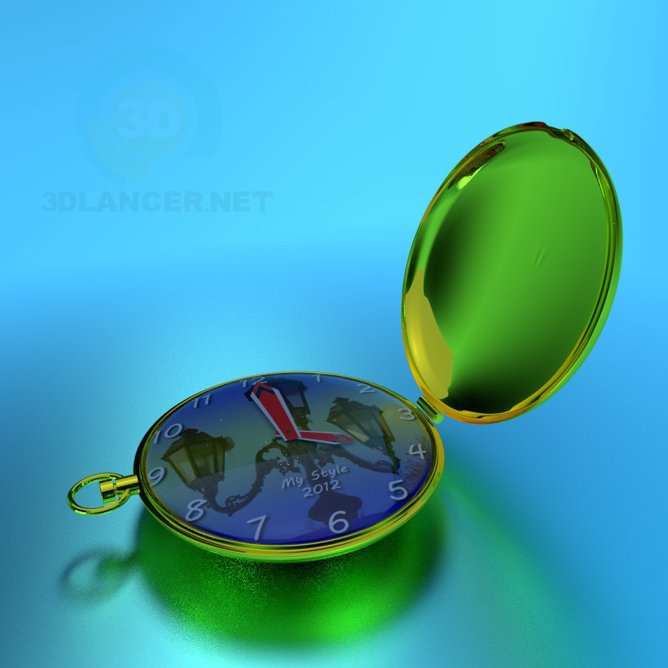 3d modeling Pocket Watch model free download