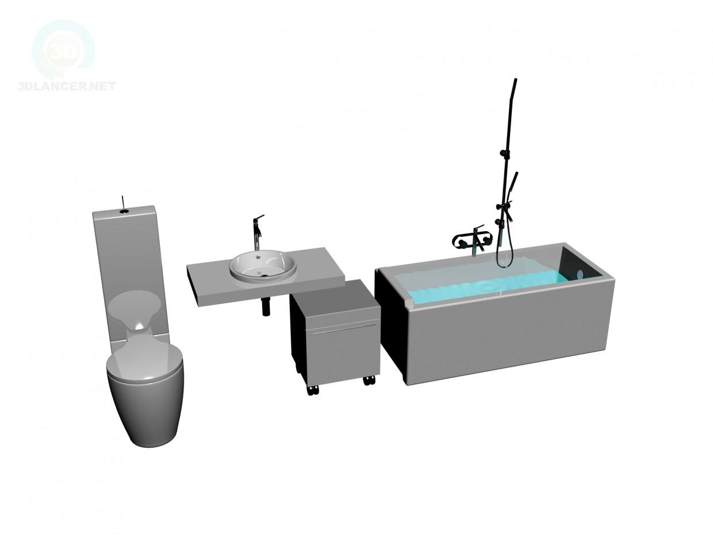 modelo 3D Conjunto de sanitarios, Starck - escuchar