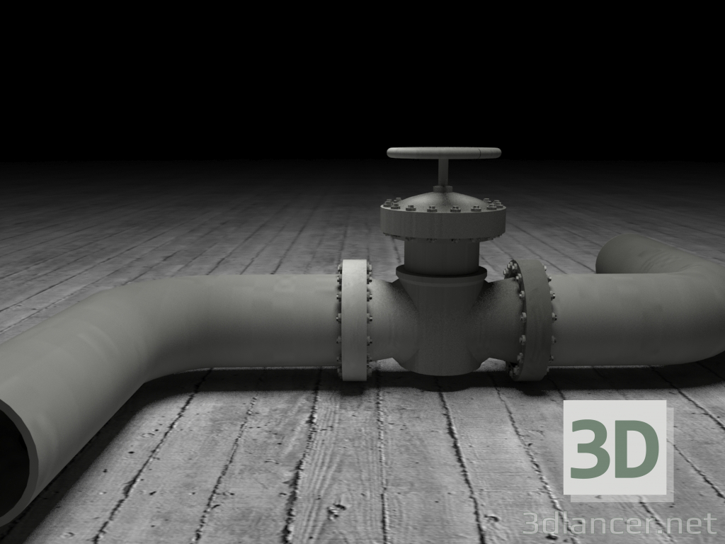 3d model Pipeline - preview