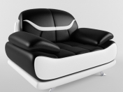Chair (Bentley Modern Black and White