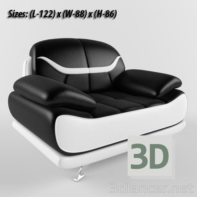 3d Chair (Bentley Modern Black and White model buy - render