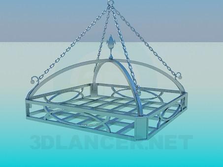 3d модель Подвесная полочка – превью
