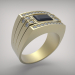 3d The ring with a black onyx model buy - render