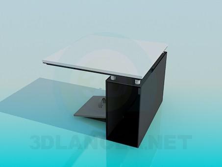 modelo 3D Mesa de ordenador pequeña - escuchar