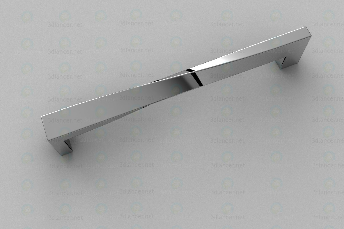 Furniture handle (D)-703/160 G2 chrome paid 3d model by Vizan preview