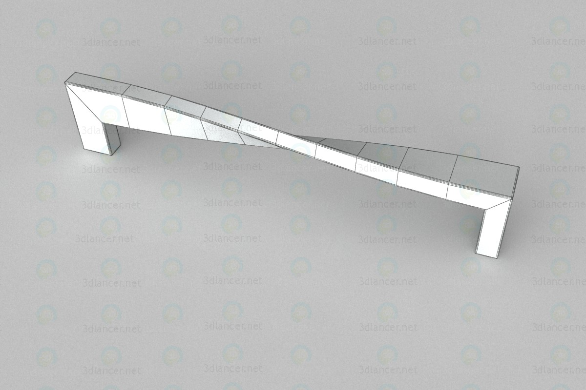 3d Furniture handle (D)-703/160 G2 chrome model buy - render